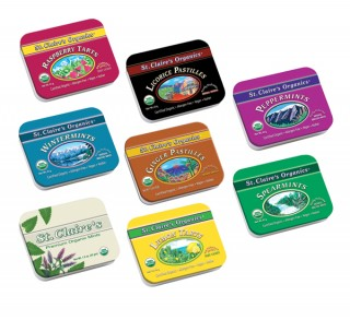 Organic breath mints and herbal candies
